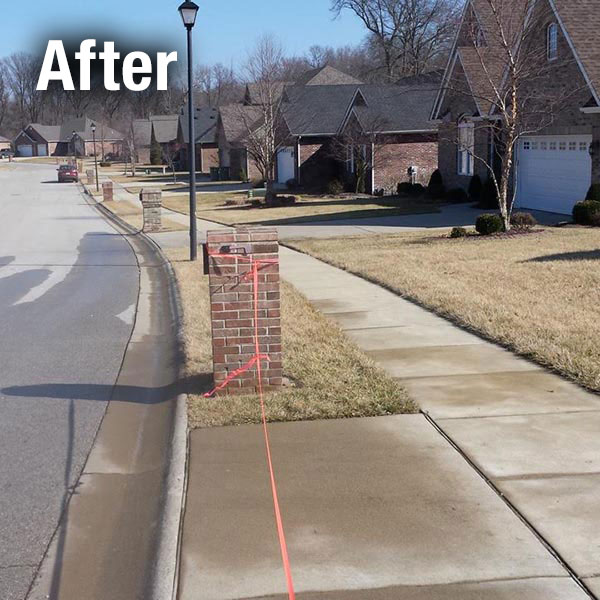 Muncie Brick Mailbox Leveling - After