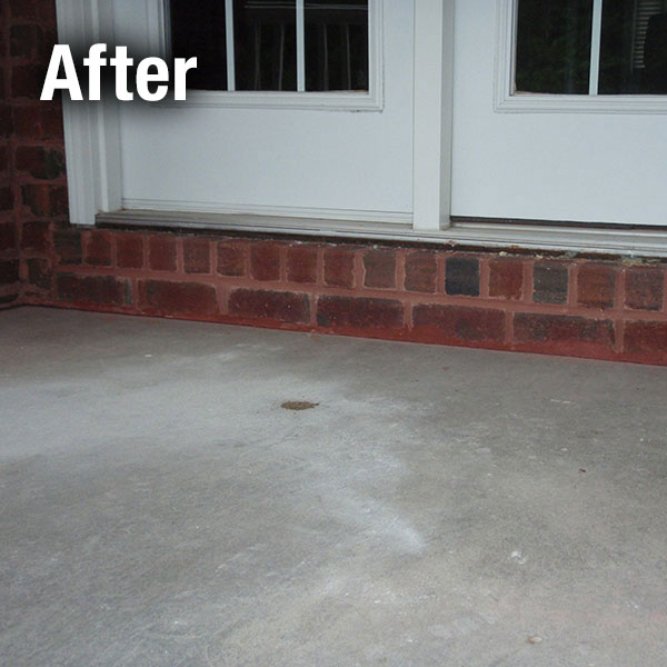 Muncie Concrete Porch Leveling - After