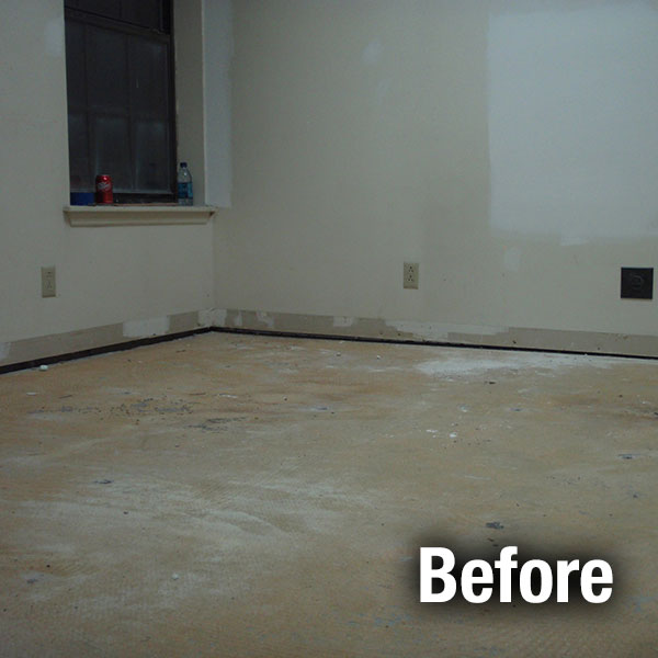 Muncie​ Concrete Floor Leveling - Before